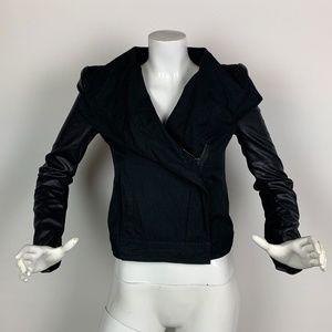 BCBG Maxazria jacket moto  faux leather Sz XS